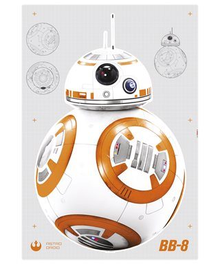 WANDSTICKER STAR WARS BB-8