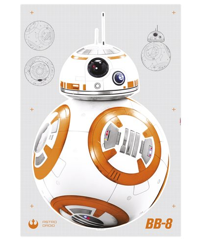 ETIQUETA ADHESIVA STAR WARS BB-8