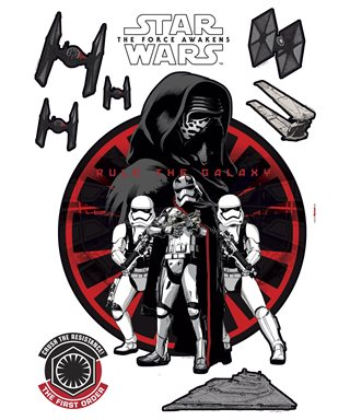STICKER ADESIVO STAR WARS FIRST ORDER