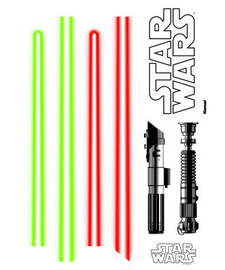 TATOO MURAL STAR WARS LIGHTSABERS