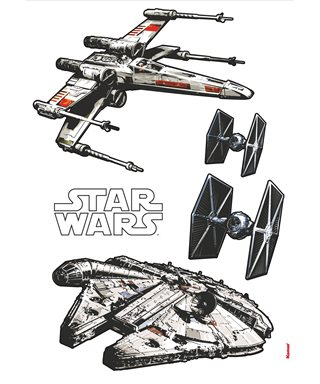 ETIQUETA ADHESIVA STAR WARS SPACESHIPS