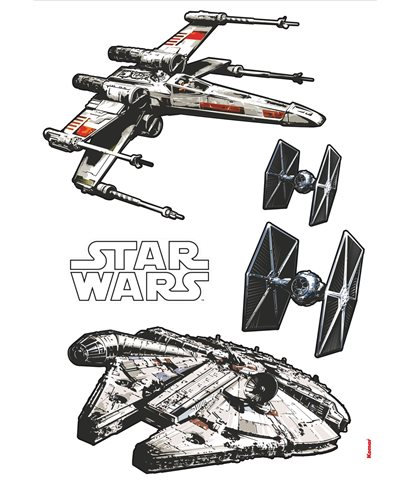STICKER ADESIVO STAR WARS SPACESHIPS