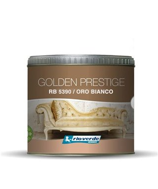 PEINTURE DÉCORATIVE GOLDEN PRESTIGE RENNER OR BLANC RB5390