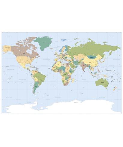 POSTER FOTOMURALE WORLDMAP
