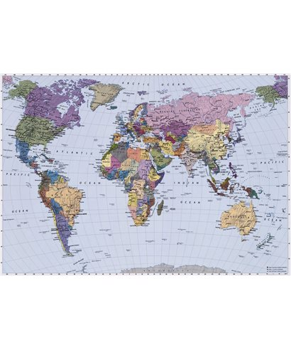 POSTER FOTOMURALE WORLD MAP
