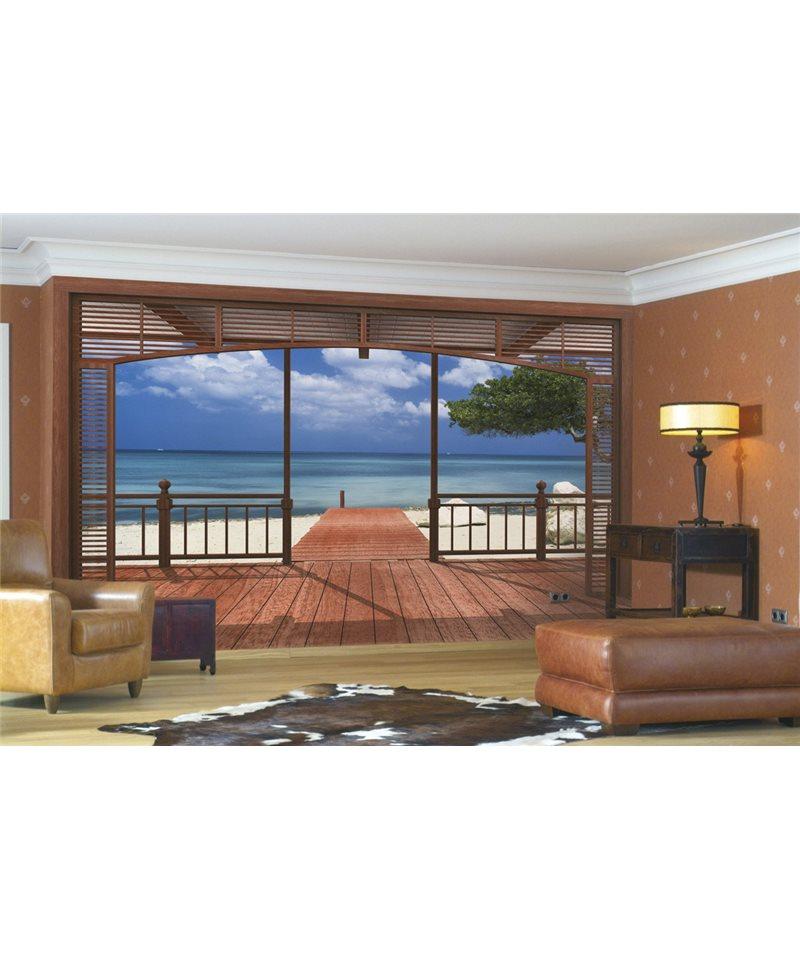 fototapete el paradiso. Black Bedroom Furniture Sets. Home Design Ideas