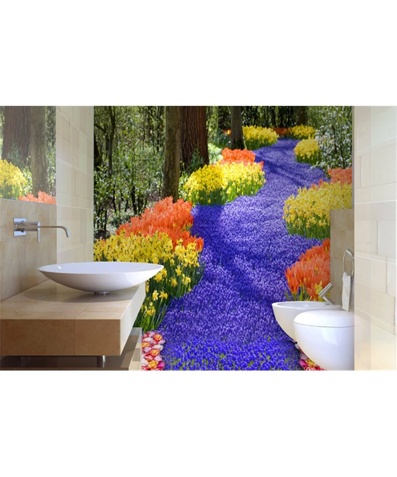 Salle de bains 3d 01 de la collection affreschi affreschi for Salle de bain 3d en ligne
