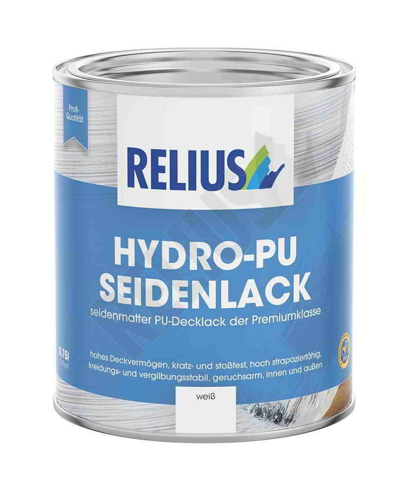 lack seidenglanz professionell wasser relius hydro pu seidenlack. Black Bedroom Furniture Sets. Home Design Ideas