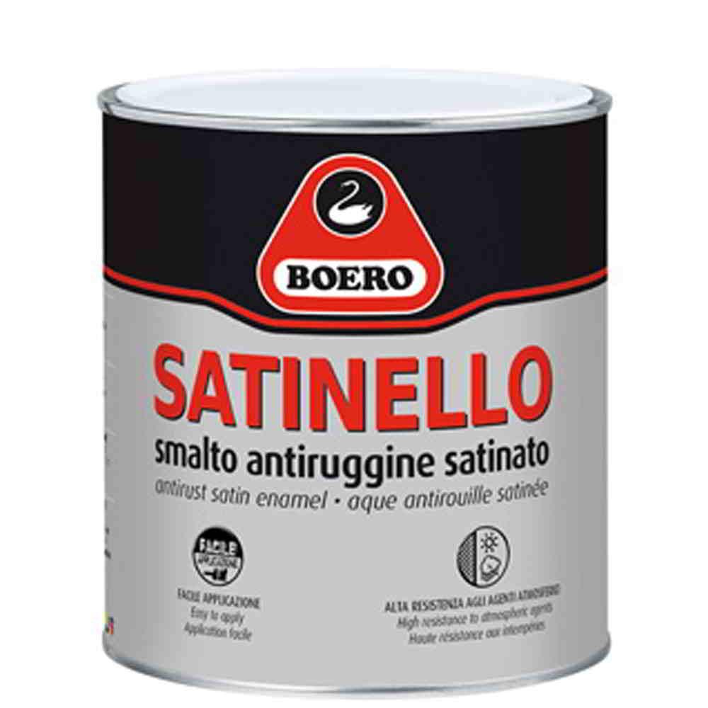 Boero satinello smalto antiruggine alchidico tixotropico for Idropittura termoisolante boero